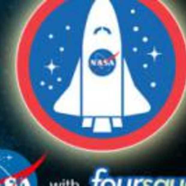 Foursquare NASA account geactiveerd vanuit de ruimte