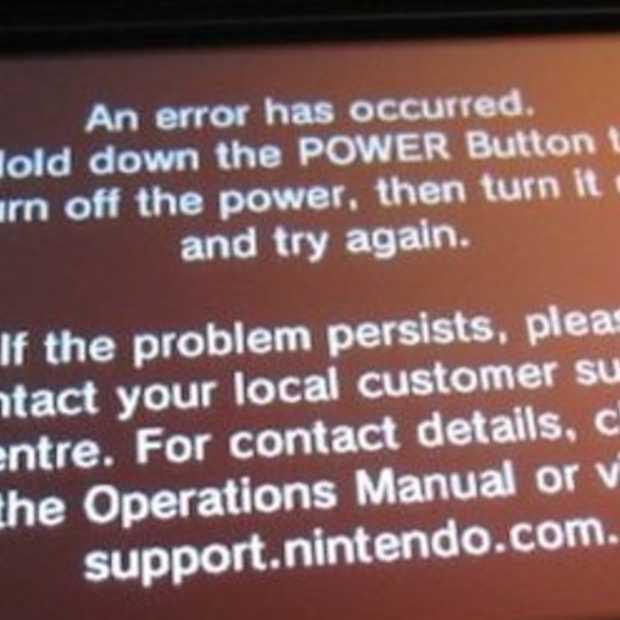 Foutboodschap op 3DS op te lossen met systeemupdate volgens Nintendo