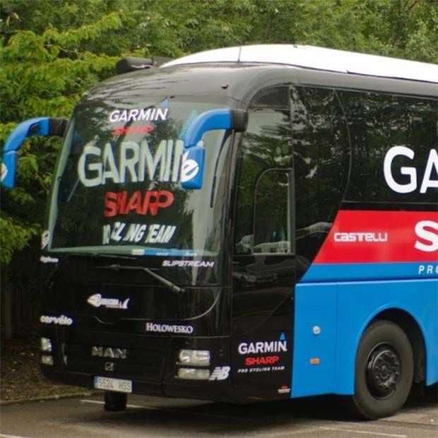 Tour de France: tourbus van Garmin aangedreven door zonne-energie