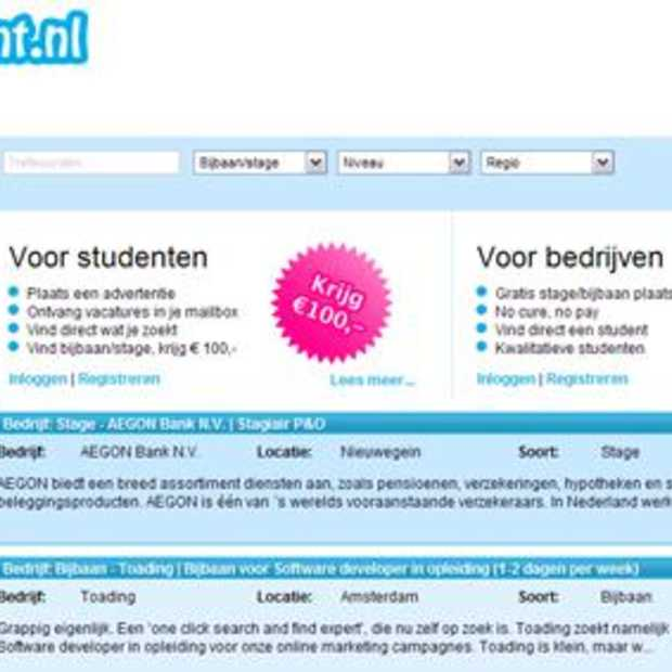 Getastudent.nl is live