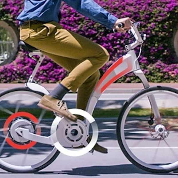 Deze elektrische fiets kun je binnen een seconde opvouwen
