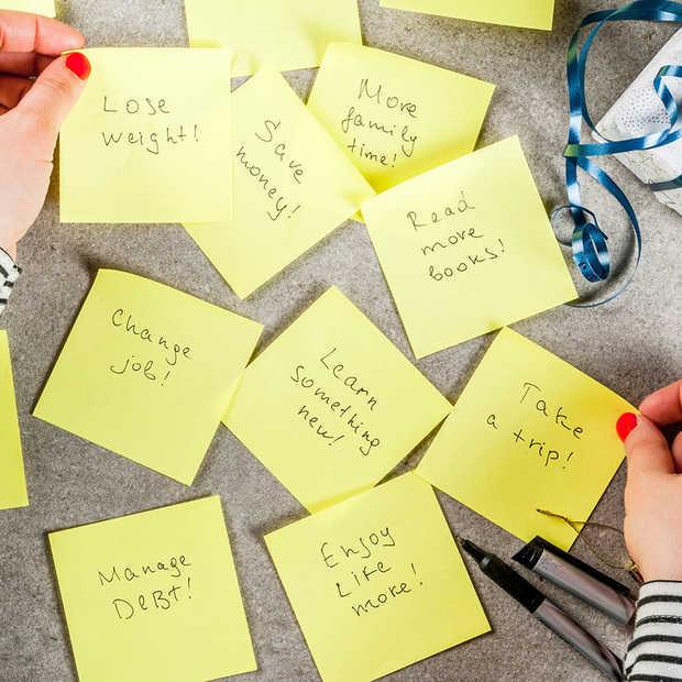 Je goede voornemens volhouden doe je met deze 5 tips
