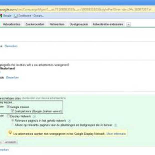 Google Adwords en Google zoekpartners: een troebele combinatie?