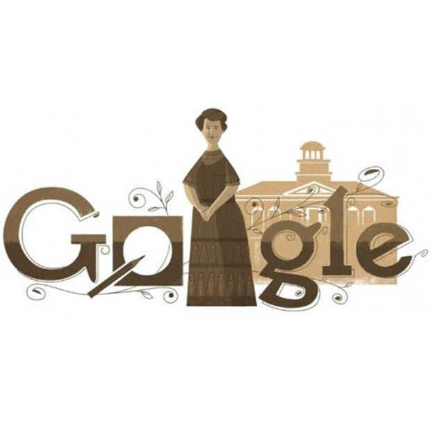 Google Doodle: Aletta Jacobs ter ere van het 100-jarig vrouwenkiesrecht