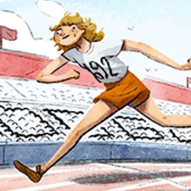 Google Doodle van vandaag eert Fanny Blankers-Koen