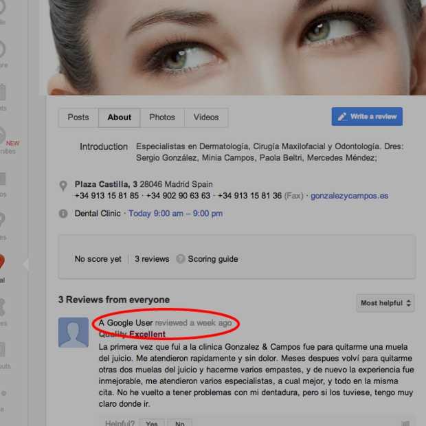 Google laat gebruikers bedrijven anoniem beoordelen