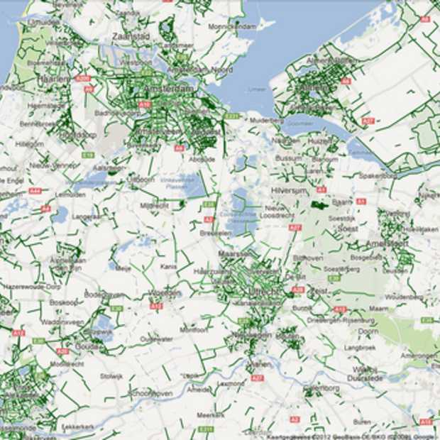 Google Maps fietsroutes nu ook in Nederland