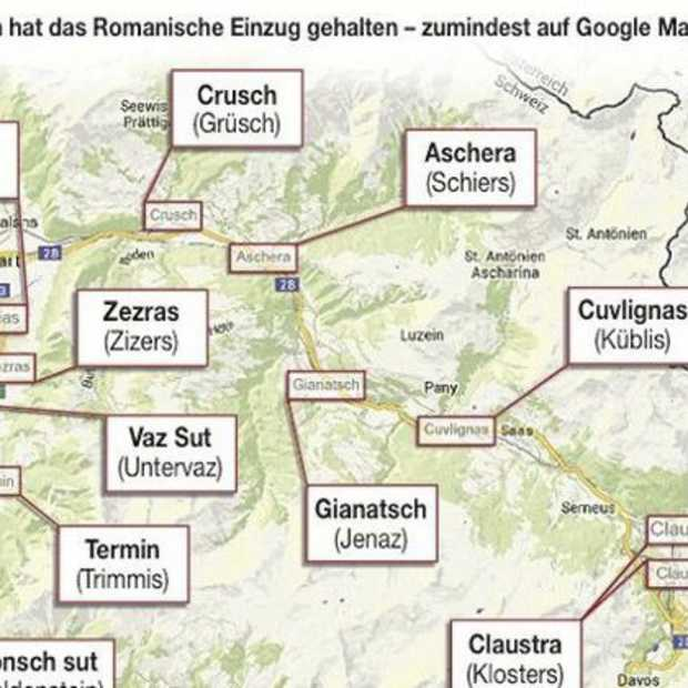 Google Maps in de war in Graubünden