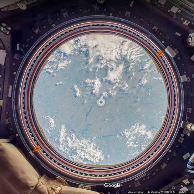 Google Street View nu ook in het Internationale Ruimtestation