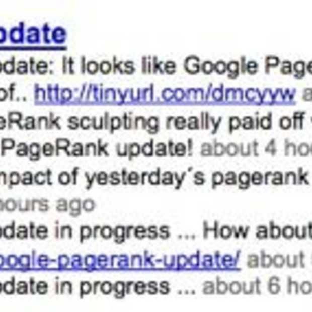 Google Pagerank update april 2009