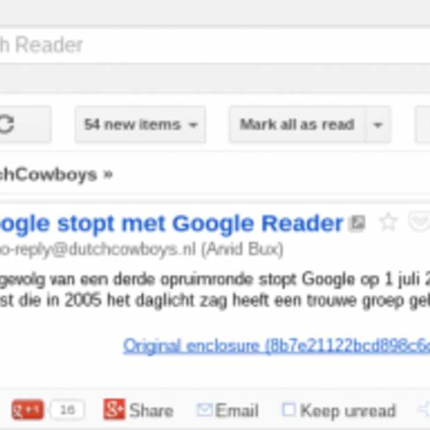 Google Reader data nog tot 15 juli te downloaden
