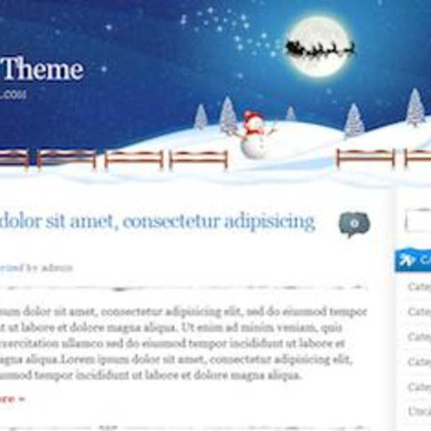 Gratis Kertsmis en WordPress Thema