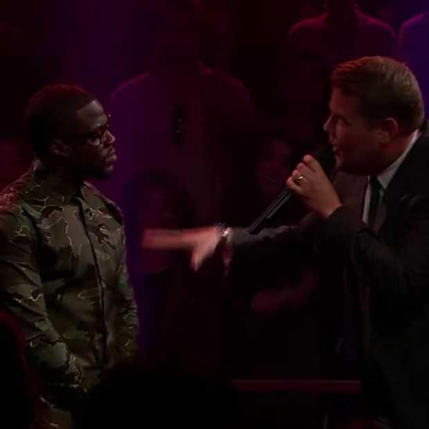 Kevin Hart vs. James Corden in Epische Rap Battle