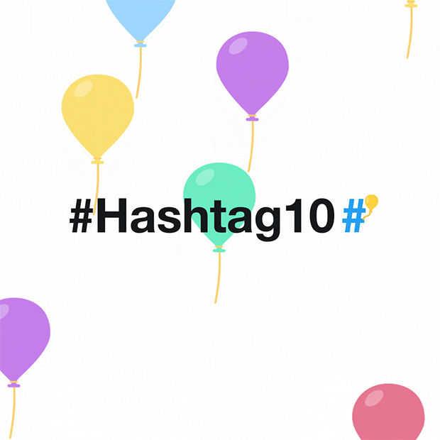 De Hashtag bestaat vandaag 10 jaar #Hashtag10