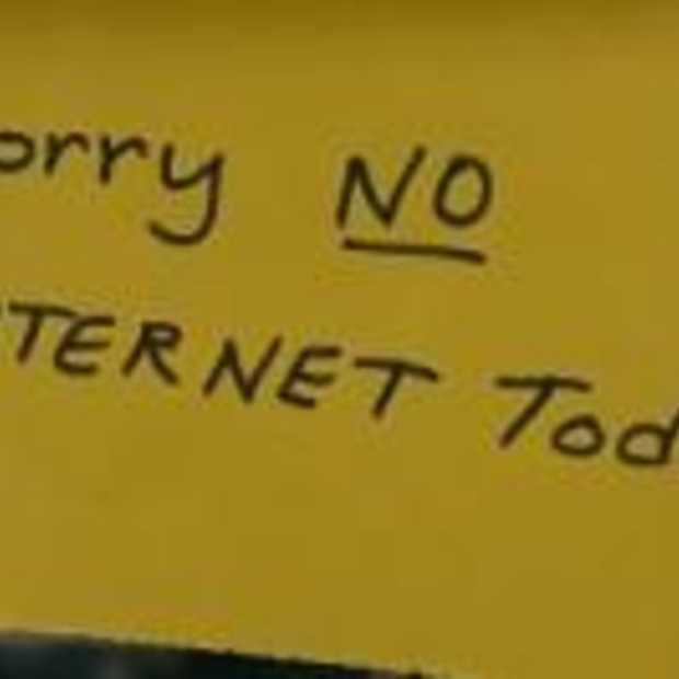 Het internet gaat plat