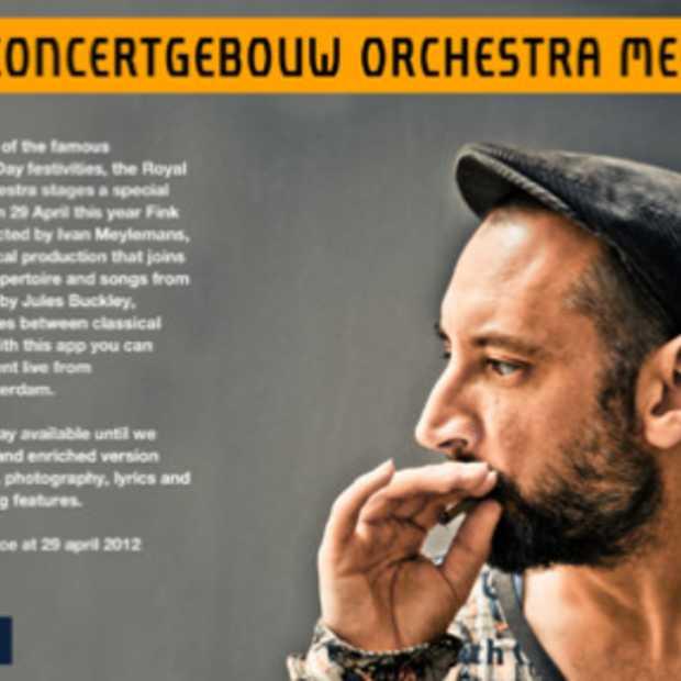 Het Koninklijk Concertgebouworkest en Britse popformatie Fink lanceren een live concert App