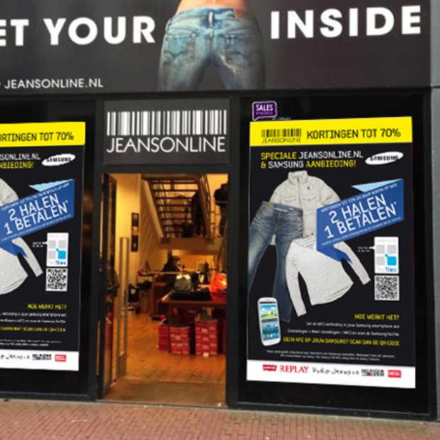Het nieuwe shoppen: NFC-activatie bij JeansOnline
