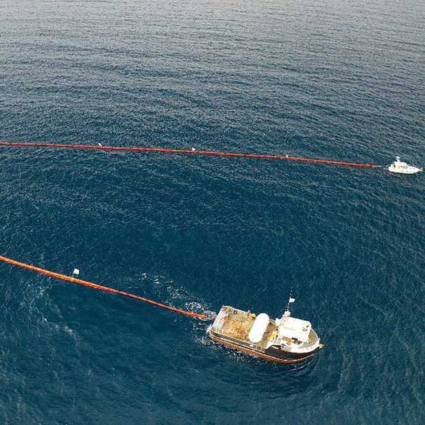 Ook deze 'Holy Turtle' gaat plastic afval uit zee halen