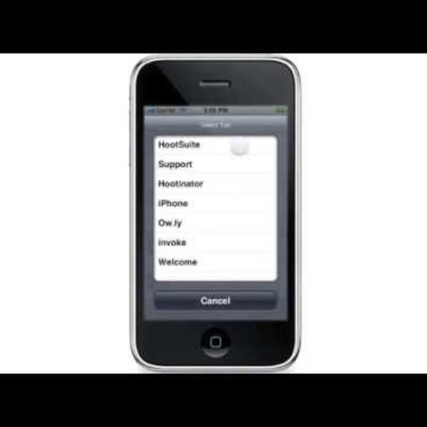 HootSuite iPhone App demo