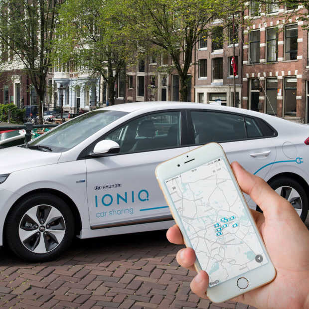 Hyundai start Car Sharing-project met 100 elektrische Hyundai's IONIQ in Amsterdam