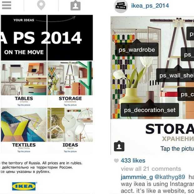Ikea bouwt 's werelds eerste website in Instagram. Het concept is briljant.