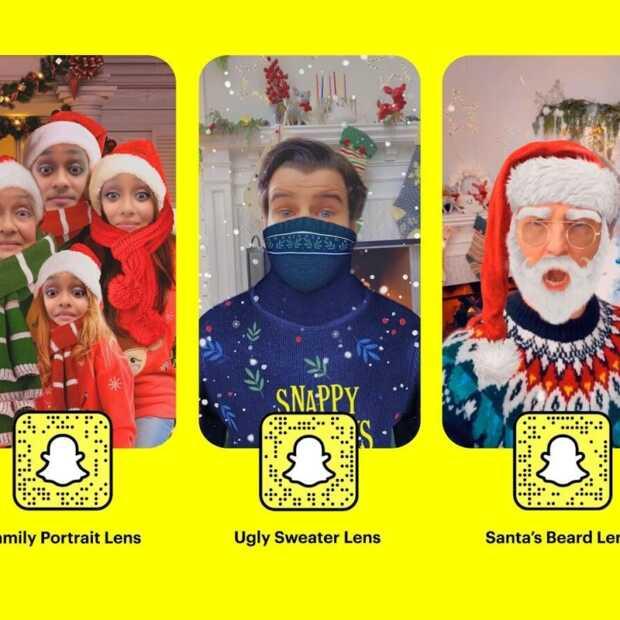 Snapchat lanceert nieuwe lenzen voor de feestdagen