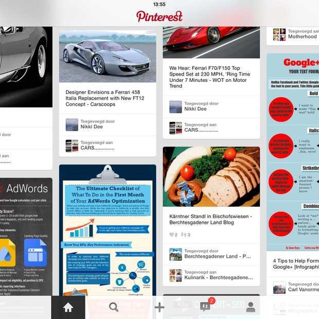In totaal al meer dan 30 miljard 'Pins' op Pinterest