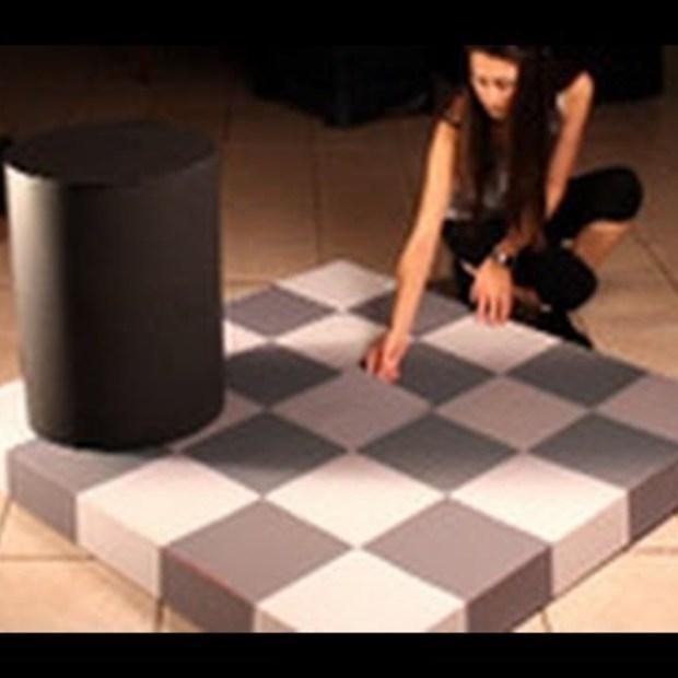 Wow : Incredible checkerboard shade illusion !