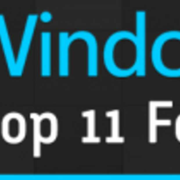 Infographic: Top 11 functies van Windows 8