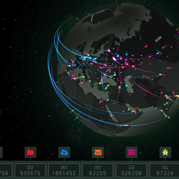 Interactieve wereldkaart toont cyberdreigingen in real-time