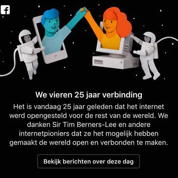 Het internet bestaat vandaag 25 jaar