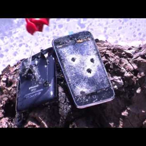 iPhone 3GS Shot with 9mm and Burned