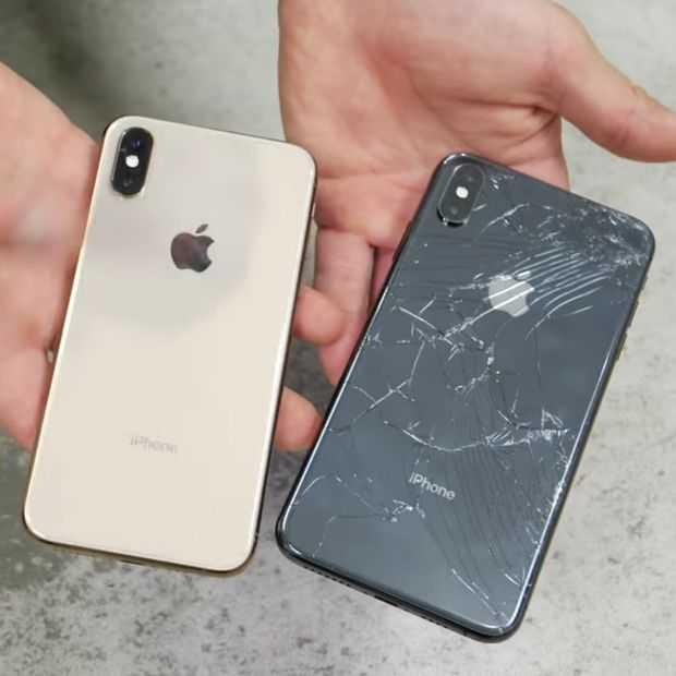 De nieuwe iPhones op de grond gegooid: is het glas echt sterker?