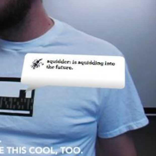 Je Twitter feed op je t-shirt?