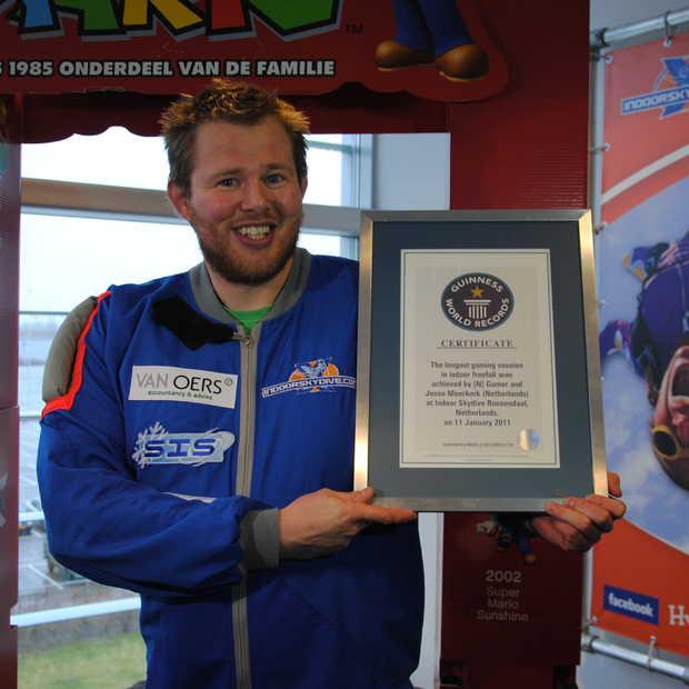 Jesse Moerkerk vestigt wereldrecord gamen