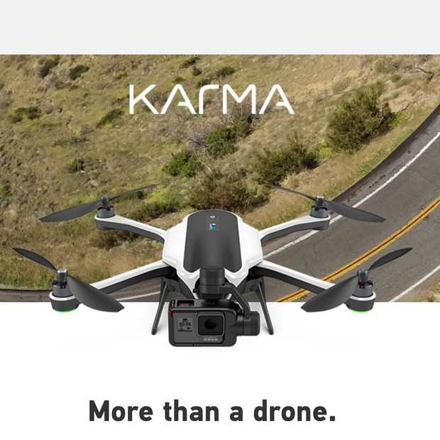 GoPro-drone Karma vanaf eind oktober te koop
