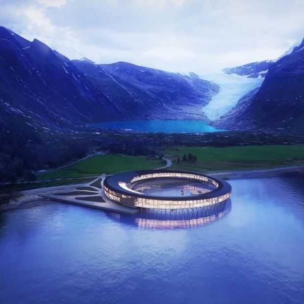 Dit hotel in Noorwegen wordt klimaatpositief en nog prachtig ook