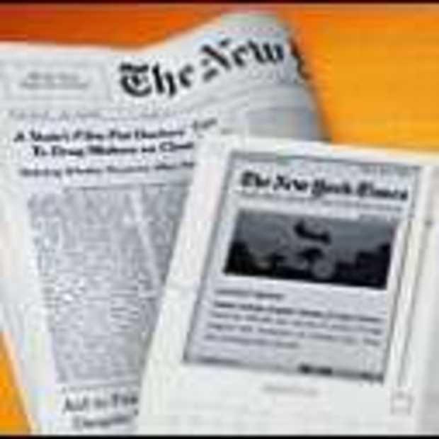 Krant blijft koning, ondanks Kindle