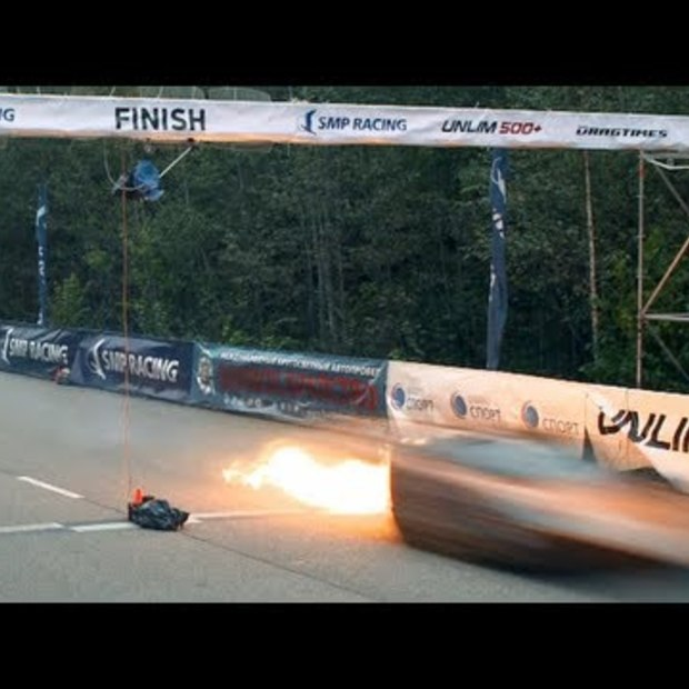 Lamborghini vat vlam bij 402 km/h