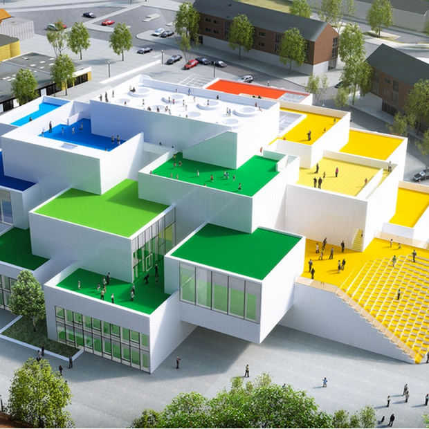Prachtig LEGO House is gebouwd alsof het met blokjes gemaakt is