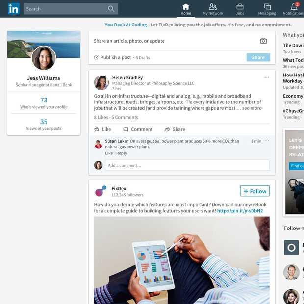 De verschillende functies op LinkedIn: 2003 versus 2018