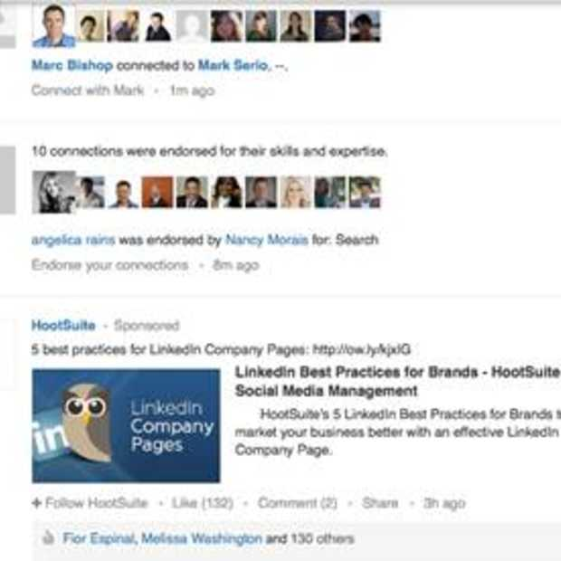 LinkedIn introduceert gesponsorde updates