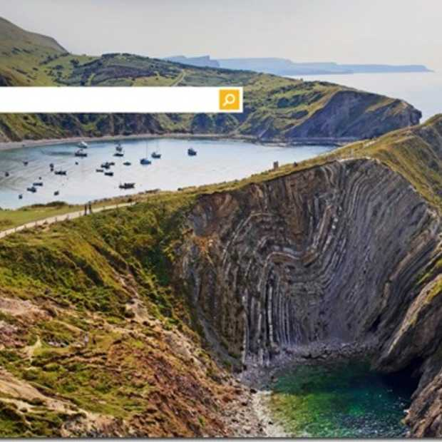 Lulworth Cove meest populaire Bing homepage image in 2013