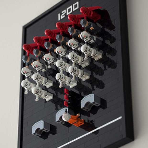 Machtig mooi: Star Wars LEGO meets Space Invaders