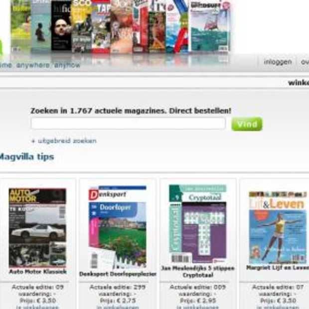 Magvilla: on-line shop voor tijdschriften