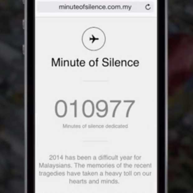 "Malaysia Airlines ""A Minute of Silence"" Mobile Campaign"