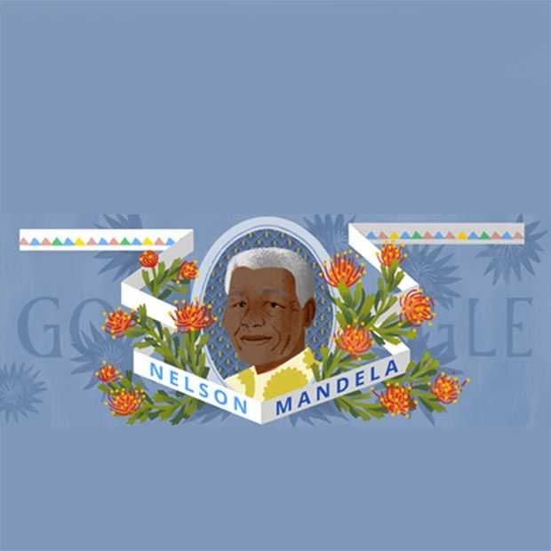 Google eert 96e verjaardag Nelson Mandela met Doodle
