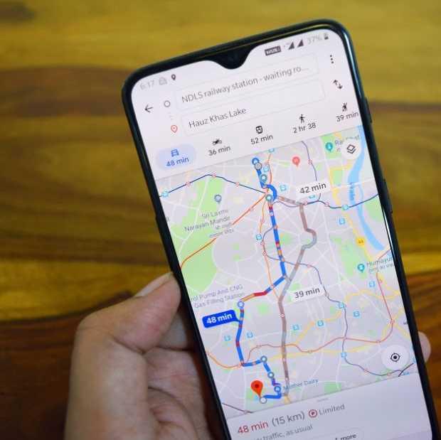 Google Maps wordt ook veel in de eigen stad gebruikt