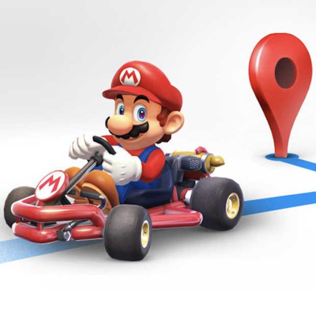 Met Super Mario rijden door Google Maps