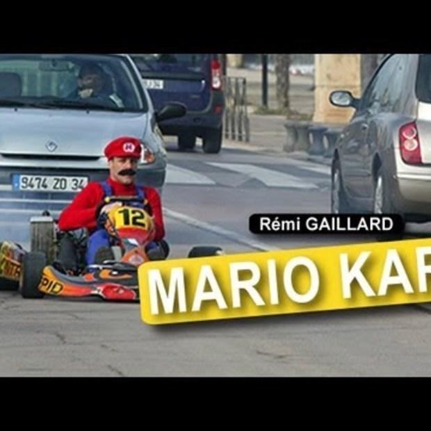 Mario Kart met Rémi Gaillard